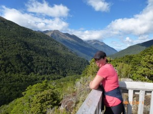Jamie coughing up a lung after the Haast Pass hike!