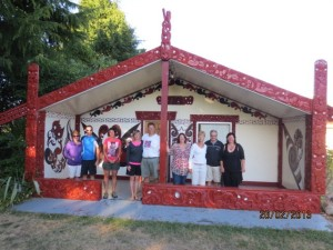Tia, the Marae at the High School in Taupo where we slept