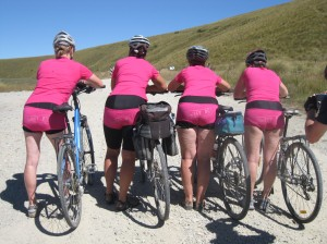 "The 'Sweet As..."" ladies ready to role down the Dansy's Pass"