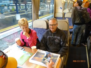 On the train in Wellington