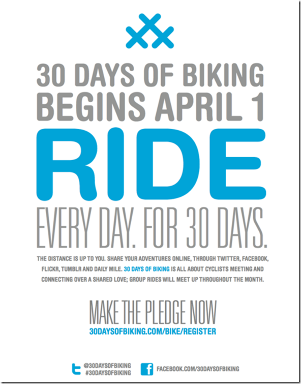 30 days cycling