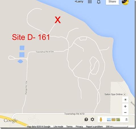 Pidgeon Lak e campo site d161
